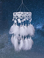 cheap -Boho Dream Catcher Handmade Gift Wall Hanging Decor Art Ornament Craft 3D Star Feather For Kids Bedroom Wedding Festival