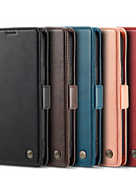 cheap -Phone Case For Apple Full Body Case Leather iPhone 13 12 Pro Max 11 X XR XS Max iPhone 13 Pro iphone 7/8 iphone 7Plus / 8Plus iPhone SE 2020 Wallet Card Holder Shockproof Solid Colored PU Leather
