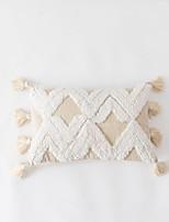 cheap -Moroccan Folk Style Tufted Pillow Case Cotton Canvas Pillow Decoration