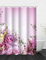 cheap -Dream Flower City Beautiful Flowers Bathroom Decoration Waterproof Shower Curtain Including Hooks