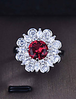 cheap -Ring Mismatched Burgundy Copper Silver Plated Flower Artistic Fashion Punk 1pc Adjustable / Women's / Open Cuff Ring / Open Ring / Adjustable Ring