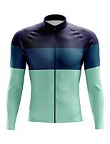 cheap -21Grams Men's Long Sleeve Cycling Jersey Spandex Purple Dark Green Green Color Block 3D Bike Top Mountain Bike MTB Road Bike Cycling Quick Dry Moisture Wicking Sports Clothing Apparel / Stretchy
