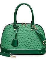 cheap -Women's Bags PU Leather Crossbody Bag Top Handle Bag Dome Bag Tassel Zipper Solid Color Crocodile Vintage Daily Outdoor Retro Leather Bag Handbags Blue Green White Black