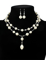 cheap -Necklace Women's Geometrical Pearl Flower Fashion Lovely White 43+8 cm Necklace Jewelry 1pc for Gift Daily Work Festival Geometric