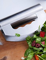 cheap -Stainless Steel Pizza Rocker Salad Vegetable Cutter Cooking Knife Kitchen Serving Slicer with Double Cutting Tools Accessories