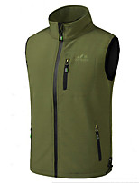 cheap -Men's Hiking Softshell Jacket Hiking Vest Softshell Winter Outdoor Thermal Warm Windproof Lightweight Breathable Outerwear Trench Coat Top Fishing Climbing Running Grey Black Army Green