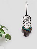 cheap -Boho Dream Catcher Handmade Gift Wall Hanging Decor Art Ornament Craft Bead Peacock Feather For Kids Bedroom Wedding Festival