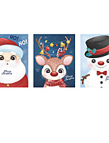 cheap -Christmas Cartoon Wall Stickers Living Room Kids Room Kindergarten Removable Pre-pasted PVC Home Decoration Wall Decal 29*37CM*3pcs