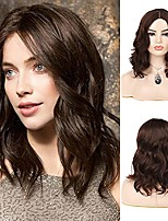 cheap -short curly wave brown bob wig synthetic middle part costume cosplay hair wigs for women
