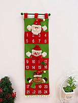 cheap -christmas decoration flannel santa claus countdown calendar pendant christmas countdown toy christmas calendar bag