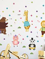 cheap -card tong cubs lion giraffe piggy panda children's room kindergarten decoration background wall stickers