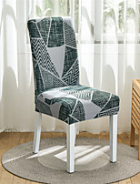 cheap -Stretch Kitchen Chair Cover Slipcover for Dinning Party Geometric Plaid High Elasticity Fashion Printing Four Seasons Universal Super Soft Fabric Retro Hot Sale