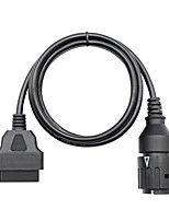 cheap -For BMW ICOM D Cable ICOM-D Motorcycles Motobikes 10 Pin Adaptor 10Pin To 16Pin OBD2 OBDII Diagnostic Cable I-COM A2 tool cables