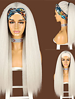 cheap -Synthetic Wig Natural Straight Middle Part Wig Long Platinum Blonde Synthetic Hair Women's Cosplay Soft Party Blonde