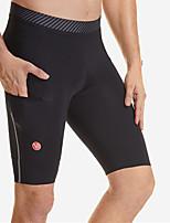 cheap -Men's Cycling Padded Shorts Spandex Bike Shorts MTB Shorts Moisture Wicking Sports Solid Color Black Mountain Bike MTB Road Bike Cycling Clothing Apparel Bike Wear / Stretchy / Athleisure