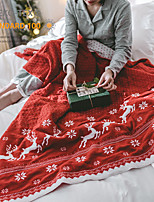 cheap -Elegant Comfort Super Soft Christmas Prints Blanket-Holiday Theme Home Décor Fuzzy Warm and Cozy Throws for Winter Bedding, Couch and Gift