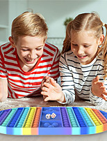 cheap -Fidgety Toys Dice Chessboard Rat Killing Pioneer Toys Large Size Pure Silicone Rainbow Bubble Pressing Toys Anti Autism Toys