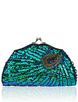 cheap -Women's Bags Polyester Alloy Evening Bag Beading Sequin Party / Evening Daily Evening Bag Green Black