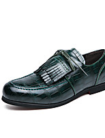 cheap -Men's Loafers & Slip-Ons Business Casual Classic Daily Faux Leather Breathable Blue Green Brown Fall