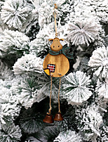 cheap -Christmas Ornaments Retro Wooden Door Hanging Creative Wind Chimes Pendant Christmas Deer Ornaments Christmas Tree Accessories Pendant