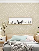 cheap -Wallpaper Wall Covering Sticker Film Modern Water ripple stripe non Woven Home Decor  53*950cm
