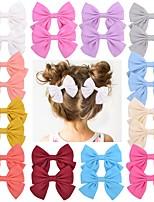 cheap -12 Pcs/set Lovely Baby Girls Print Flower Bohemian Style Bow BB Hair Clips Headwear Children Cute Cotton Hairpins Hair Accessories