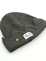 cheap -Men's Beanie / Slouchy Dailywear Pure Color Pure Color Army Green Wine Hat
