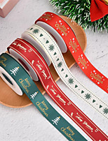 cheap -4pcs Christmas Wrap Ribbon Holiday Ornament Rib Ribbon Gift Wrap Ribbon 2*900cm