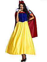 cheap -Princess Dress Cosplay Costume Adults' Women's Halloween Halloween Halloween Carnival Masquerade Festival / Holiday Terylene Yellow+Blue Women's Easy Carnival Costumes Solid Color / Shawl / Headwear