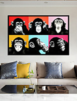 cheap -Wall Art Canvas Prints Animal Monkey Home Decoration Decor Rolled Canvas No Frame Unframed Unstretched