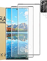 cheap -[2+2] galaxy note 20 ultra 5g screen protector tempered glass, with camera lens protector, 9h hardness, support fingerprint, 3d curved glass film for samsung galaxy note 20 ultra 6.9 inch