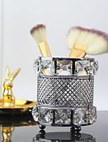 cheap -hot-selling european style long crystal pen holder makeup brush storage tube dressing table makeup eyebrow pencil bucket tissue box