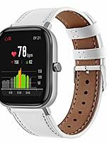 cheap -20mm genuine leather style watch bands compatible with amazfit bip u pro/bip s lite,replacement watch band for amazfit gts/gts 2/ gts 2e/ gts 2 mini/bip/bip lite/bip s/bip u (white)