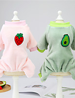 cheap -Dog Cat Vest Fruit Adorable Cute Dailywear Casual / Daily Dog Clothes Puppy Clothes Dog Outfits Breathable Green Costume for Girl and Boy Dog Padded Fabric XXL