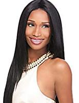 cheap -Human Hair Wig Silky Straight Neat Bang Red Women New Lovely Capless Brazilian Hair Women's Black / Dark Wine 12 inch