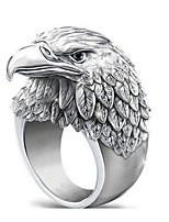 cheap -Men Women Ring Classic Silver Stainless Steel Eagle Stylish Artistic Punk 1pc 7 8 9 10 11 / Women's / Men's
