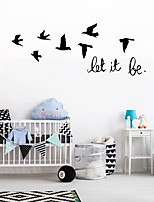 cheap -Animals Wall Stickers Living Room Kids Room Kindergarten Removable Pre-pasted PVC Home Decoration Wall Decal 1pc