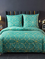cheap -Geometric Printed 3-Piece  Duvet Cover Set Hotel Bedding Sets Comforter Cover, Include 1 Duvet Cover, 2 Pillowcases for Queen/King(1 Pillowcase for Twin)