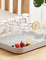 cheap -Creative Cup Drain Tray Double-Layer Kitchen Fruit Tray Living Room Plastic Tea Cup Tray