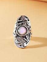 cheap -Statement Ring Moonstone Vintage Style Silver Rhinestone Alloy Statement Ethnic Vintage 1pc / Women's
