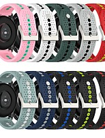 cheap -Smart Watch Band for Samsung Galaxy Huawei Printed Bracelet Silicone Replacement  Wrist Strap for Gear S3 Classic Samsung Galaxy Watch 42mm Samsung Galaxy Watch 3 45mm
