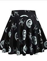 cheap -Pumpkin Skirt Adults' Women's Halloween Festival Halloween Festival / Holiday Terylene Black Women's Easy Carnival Costumes Halloween
