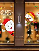 cheap -Christmas Cartoon Wall Stickers Decorative Wall Stickers PVC Home Decoration Wall Decal Wall Decoration Glass Window Decoration Removable