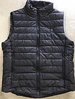 cheap -Men's Vest Gilet Daily Going out Fall Winter Short Coat Zipper Stand Collar Regular Fit Breathable Casual Jacket Sleeveless Plain Pocket Light Blue Light gray Black