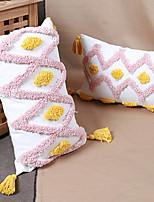 cheap -1 pcs Cotton Pillow Cover, Geometric Modern Rectangular Zipper Traditional Classic