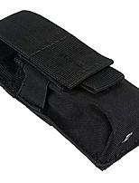 cheap -tactical pouch waterproof nylon battery bag molle pouches attachment tactical vest pocket flashlight holder (14x5.5x4cm black)