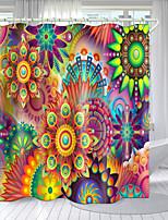 cheap -Blooming Flower Pattern Series Digital Printing Shower Curtain Shower Curtains  Hooks Modern Polyester New Design