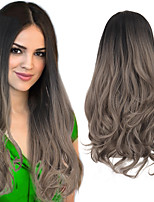 cheap -Long Wavy Hair Clip in Hair Extensions U Part Half Head Wig Natural Black Ombre Curly False Hair For Women Synthetic Hair