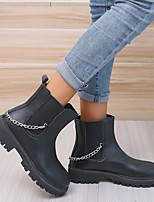 cheap -Women's Boots Block Heel Round Toe Booties Ankle Boots Daily PU Sequin Solid Colored Black Beige