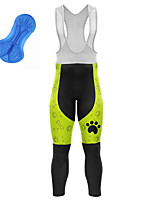 cheap -21Grams Men's Cycling Bib Tights Bike Bib Tights Quick Dry Moisture Wicking Sports Dog 3D Green Mountain Bike MTB Road Bike Cycling Clothing Apparel Bike Wear / Athleisure